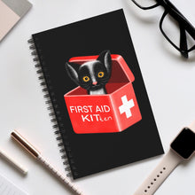 Load image into Gallery viewer, FIRST AID KITten | Black | Spiral Notebook 80 pages-80 pages notebook-Eggenland