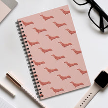 Load image into Gallery viewer, Cute Dachshund Dog | Pink | Spiral Notebook 80 pages-80 pages notebook-Eggenland