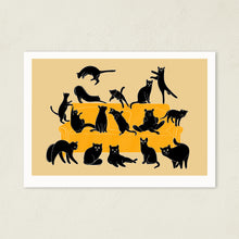 Load image into Gallery viewer, Black Cats Party | Art Print-art print-A4-Cream-Eggenland