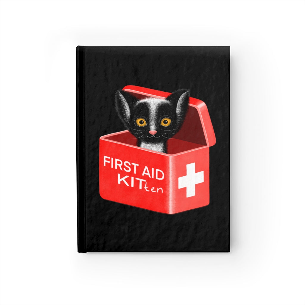 FIRST AID KITten | Black | Journal - Blank-blank journals-Journal-Eggenland
