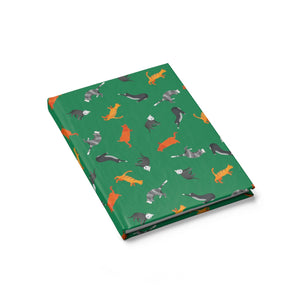Funky Cats Pattern | Green | Journal - Blank-journals-Journal-Eggenland