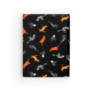 Funky Cats Pattern | Black | Journal - Blank-journals-Journal-Eggenland