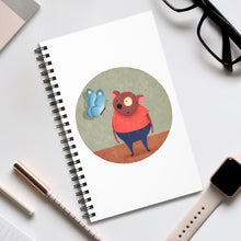 Load image into Gallery viewer, Bear and Butterfly | Spiral Notebook 80 pages-80 pages notebook-Eggenland