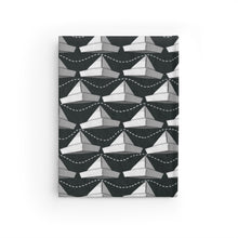 Load image into Gallery viewer, Paper Hats Pattern | Black and White | Journal - Blank-journals-Journal-Eggenland