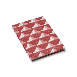 Paper Hats Pattern | Red White | Journal - Blank-journals-Journal-Eggenland