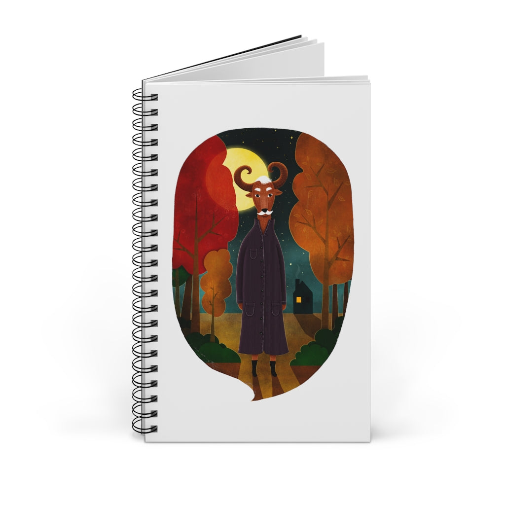 Deer Creature at Night | Spiral Notebook 80 pages-80 pages notebook-Blank-Spiral Notebook-Eggenland