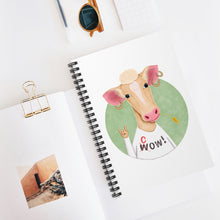 Load image into Gallery viewer, Wow Cow | Lined Spiral Notebook 118 Pages-118 pages notebook-Spiral Notebook-Eggenland