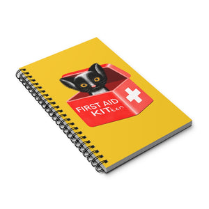FIRST AID KITten | Yellow | Spiral Notebook 80 pages-80 pages notebook-Eggenland
