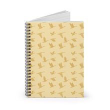 Load image into Gallery viewer, Flying Birds Pattern | Golden | Lined Spiral Notebook 118 Pages-118 pages notebook-Spiral Notebook-Eggenland