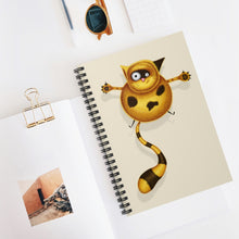 Load image into Gallery viewer, Fat Cat | Cream | Lined Spiral Notebook 118 Pages-118 pages notebook-Spiral Notebook-Eggenland