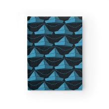Load image into Gallery viewer, Paper Hats Pattern | Blue Black | Journal - Blank-journals-Journal-Eggenland