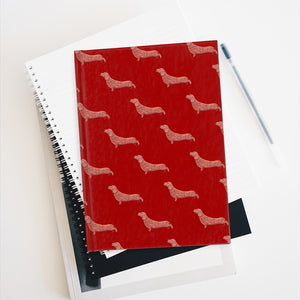 Cute Dachshund Dog | Red | Journal - Blank-blank journals-Journal-Eggenland