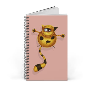 Fat Cat | Pink | Spiral Notebook 80 pages-80 pages notebook-Blank-Spiral Notebook-Eggenland