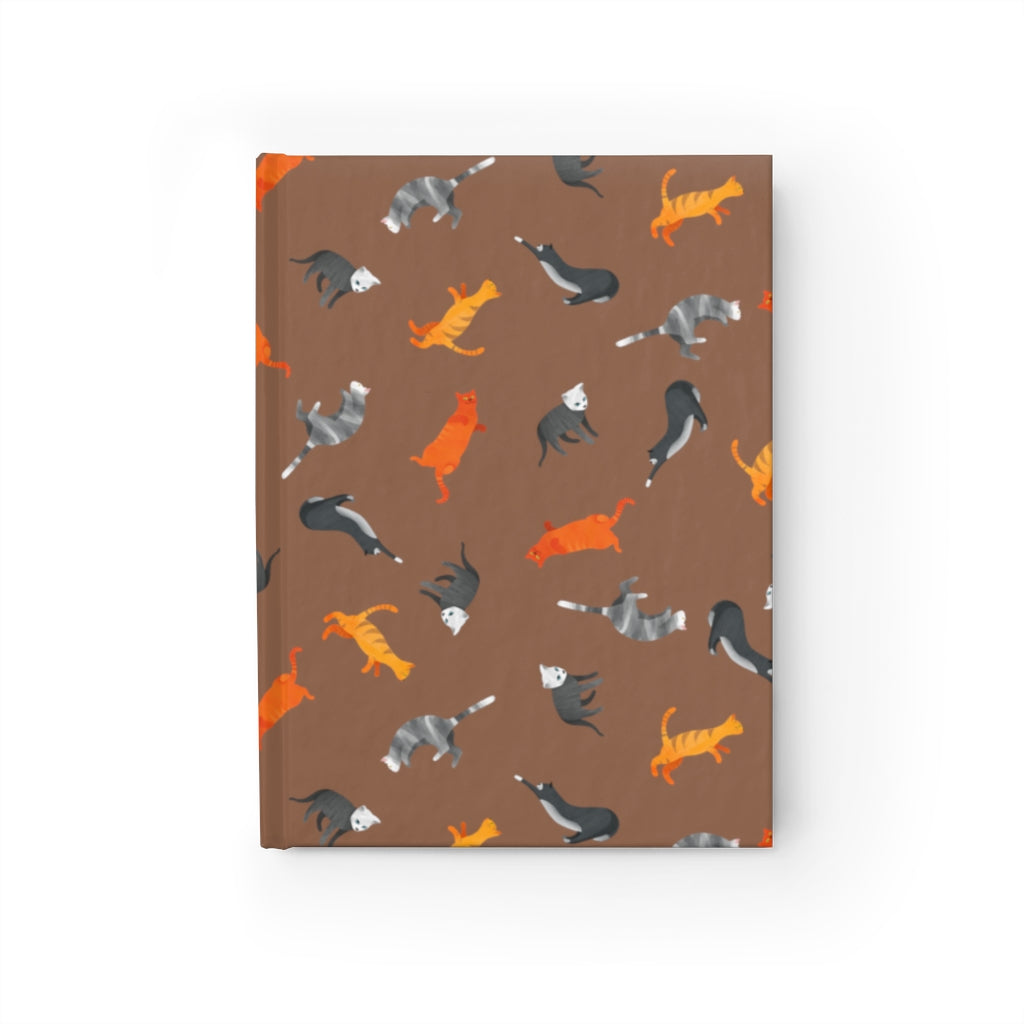 Funky Cats Pattern | Brown | Journal - Blank-journals-Journal-Eggenland