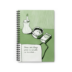 No Answer | Green | Lined Spiral Notebook 118 Pages-118 pages notebook-Spiral Notebook-Eggenland