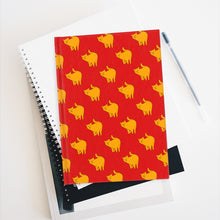 Load image into Gallery viewer, Yellow Cat Pattern | Red | Journal - Blank-journals-Journal-Eggenland