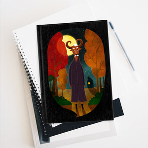 Deer Creature At Night | Black | Journal - Blank-blank journals-Journal-Eggenland