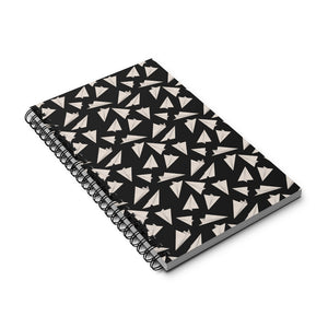 Paper Planes Pattern | Black and White | Spiral Notebook 80 pages-80 pages notebook-Eggenland