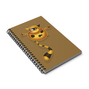 Fat Cat | Brown | Spiral Notebook 80 pages-80 pages notebook-Eggenland