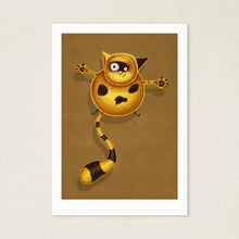 Load image into Gallery viewer, Fat Cat | Illustration | Art Print-art print-A4-Brown-Eggenland