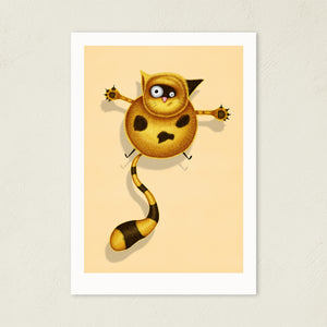 Fat Cat | Illustration | Art Print-art print-A4-Cream-Eggenland