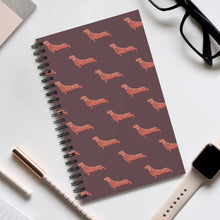 Load image into Gallery viewer, Cute Dachshund Dog | Brown | Spiral Notebook 80 pages-80 pages notebook-Eggenland