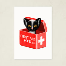 Load image into Gallery viewer, First Aid Kitten | Illustration | Art Print-art print-A4-White-Eggenland