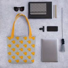 Load image into Gallery viewer, Yellow Cat Pattern | Grey | Tote Bag-tote bags-Eggenland