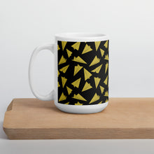 Load image into Gallery viewer, Paper Planes Pattern | Dark Yellow | Mug-mugs-15oz-Eggenland