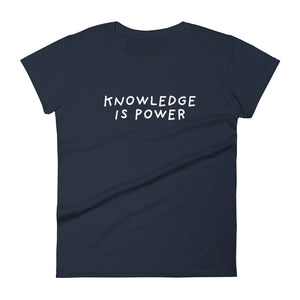 Knowledge is Power | Women's Short Sleeve T-Shirt-t-shirts-Navy-S-Eggenland