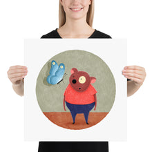 Load image into Gallery viewer, Bear and Butterfly | Illustration | Poster-posters-18×18-Eggenland