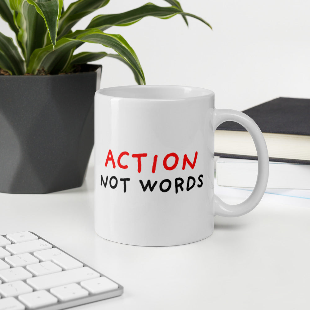 Action not Words Mugs for Sale from Stop Narcissists Collection | Eggenland