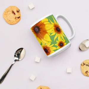 Blooming Flowers | Green | Mug-mugs-Eggenland