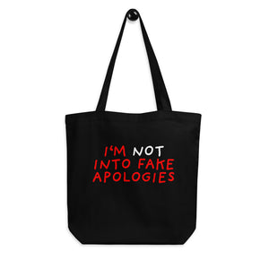 Fake Apologies | Eco Tote Bag-tote bags-Eggenland