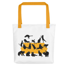 Load image into Gallery viewer, Black Cats Party | Tote Bag-tote bags-Yellow-Eggenland