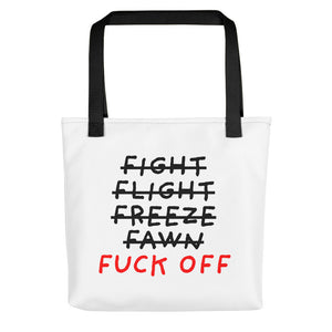 Five F of Fear | Tote Bag-tote bags-Black-Eggenland