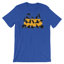 Load image into Gallery viewer, Black Cats Party | Short-Sleeve Unisex T-Shirt-t-shirts-Heather True Royal-S-Eggenland
