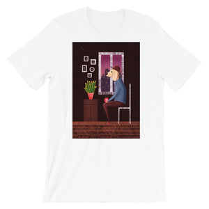 Charlie Waiting For Love | Short-Sleeve Unisex T-Shirt-t-shirts-White-S-Eggenland