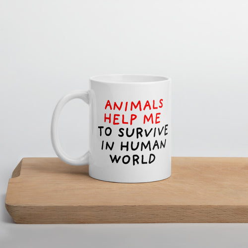 Animals Help Me | Mug-mugs-11oz-Eggenland