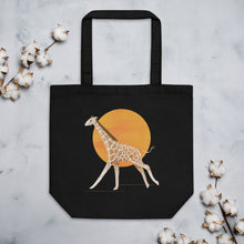 Load image into Gallery viewer, Giraffe and Sun | Eco Tote Bag-tote bags-Eggenland
