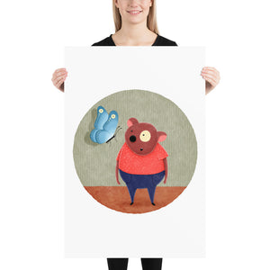 Bear and Butterfly | Illustration | Poster-posters-24×36-Eggenland