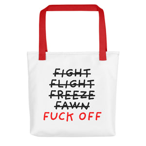 Five F of Fear | Tote Bag-tote bags-Red-Eggenland