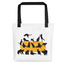 Load image into Gallery viewer, Black Cats Party | Tote Bag-tote bags-Black-Eggenland