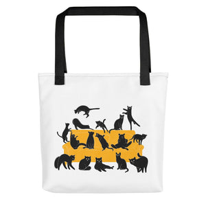 Black Cats Party | Tote Bag-tote bags-Black-Eggenland