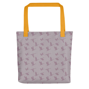 Flying Birds Pattern | Violet | Tote Bag-tote bags-Yellow-Eggenland