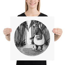 Load image into Gallery viewer, Tapirs Are Gardeners of Forest | Illustration | Poster-posters-18×18-Eggenland