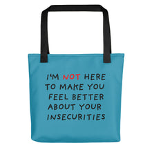 Load image into Gallery viewer, Insecurities | Blue | Tote Bag-tote bags-Black-Eggenland