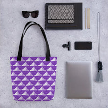 Load image into Gallery viewer, Newspaper Hats Pattern | Violet | Tote Bag-tote bags-Eggenland