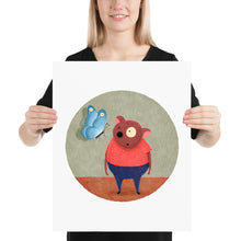 Load image into Gallery viewer, Bear and Butterfly | Illustration | Poster-posters-16×20-Eggenland