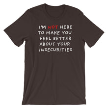 Load image into Gallery viewer, Insecurities | Short-Sleeve Unisex T-Shirt-t-shirts-Brown-S-Eggenland